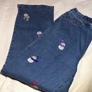 Quaker Factory Snowman Jeans